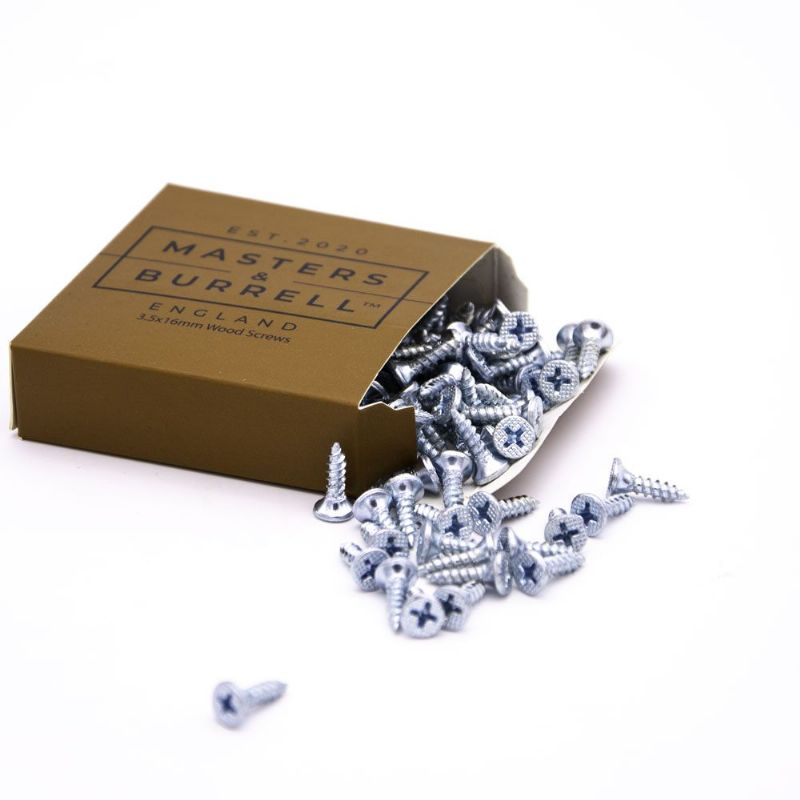 120 x Wood Screws Silver Countersunk Woodscrew Multi Purpose